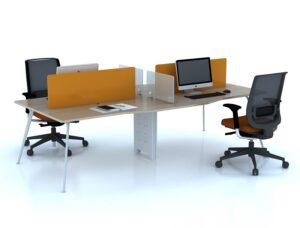 Tại sao nên sử dụng bàn chân sắt mặt gỗ tại văn phòng làm việc?