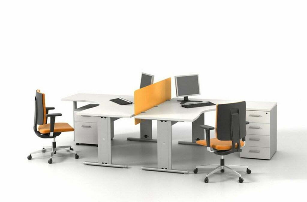 Xu hướng dùng bàn làm việc theo cụm tại các văn phòng hiện đại