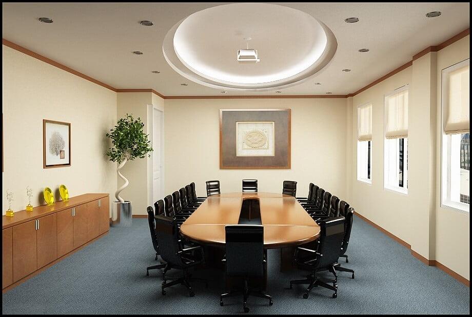Thiết kế phòng họp đơn giản, sang trọng