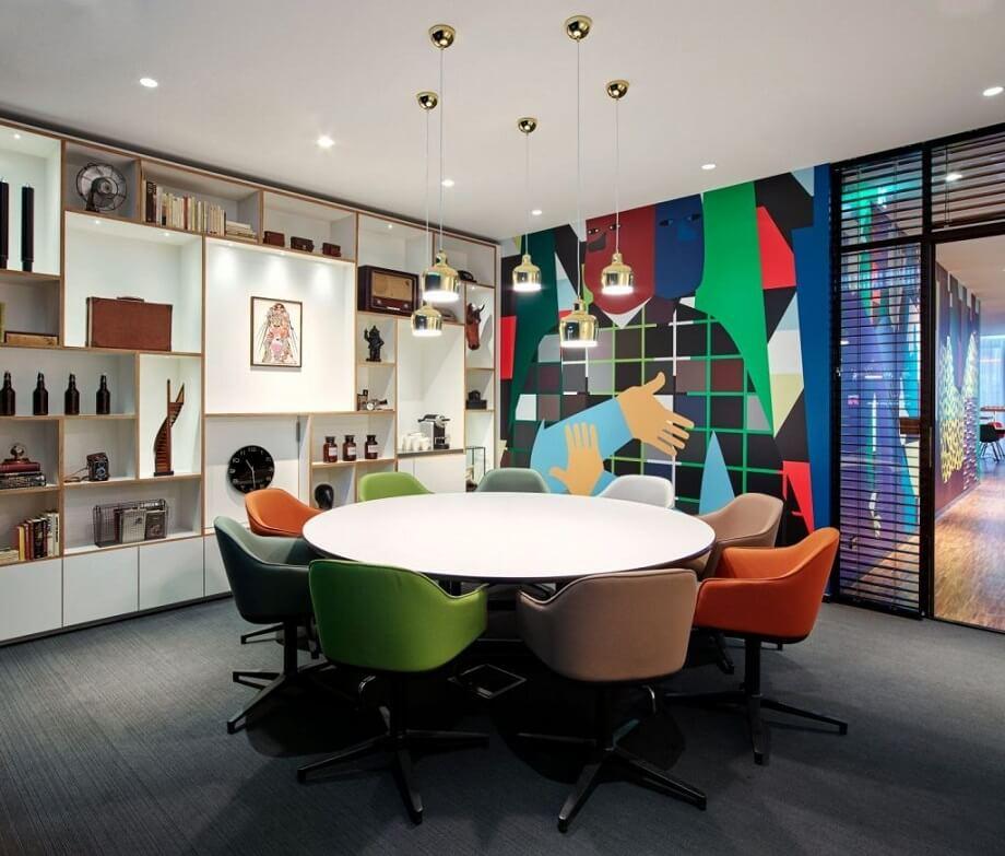 Thiết kế phòng họp sáng tạo, phá cách