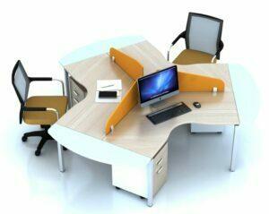 15 mẫu bàn làm việc nhân viên văn phòng đẹp và tiện dụng