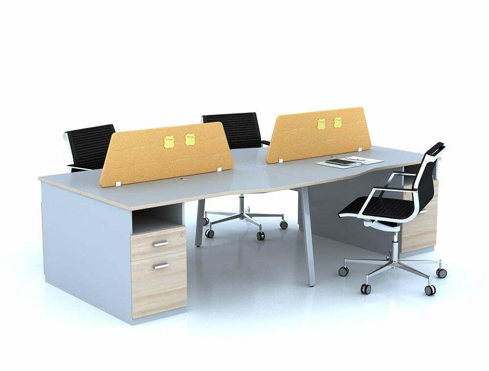 Sử dụng bàn làm việc nhân viên văn phòng làm từ loại chất liệu tốt